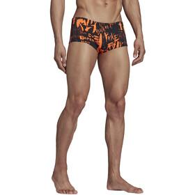 adidas Pro Allover Print Aqua Shorts Heren, solar orange/white